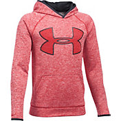 Under Armour Boys' Storm Armour® Fleece Twist Print Highlight Big Logo Hoodie