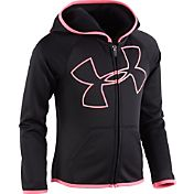 Under Armour Toddler Girls' Glitter Jumbo Big Logo Full-Zip Jacket
