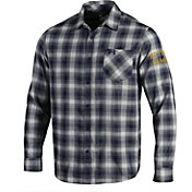 Under Armour Men's Notre Dame Fighting Irish Navy Plaid Status Button Down Shirt