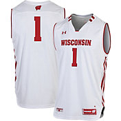 Under Armour Men's Wisconsin Badgers White #1 Replica Basketball Jersey