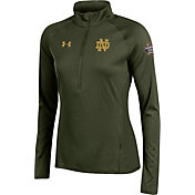 Under Armour Women's Notre Dame Fighting Irish Green Shamrock Series Half-Zip Shirt
