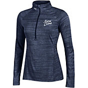 Under Armour Women's Notre Dame Fighting Irish Navy Tech Quarter-Zip Long Sleeve Shirt