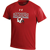 Under Armour Youth Wisconsin Badgers Red Tech Performance T-shirt