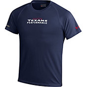 Under Armour NFL Combine Authentic Youth Houston Texans Wordmark Tech Navy Performance T-Shirt