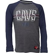 UNK Men's Cleveland Cavaliers Grey/Navy Thermal Long Sleeve Shirt