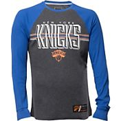 UNK Men's New York Knicks Grey/Royal Thermal Long Sleeve Shirt