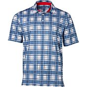 Walter Hagen Men's USA Plaid Golf Polo