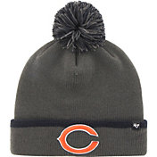 '47 Men's Chicago Bears Baraka Charcoal Pom Knit Hat