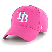 '47 Youth Girls' Tampa Bay Rays Basic Pink Adjustable Hat