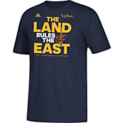 "adidas Men's 2017 Eastern Conference Champions Cleveland Cavaliers ""The Land Rules The East"" Navy T-Shirt"