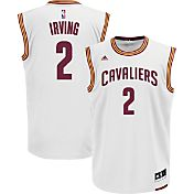 adidas Men's Cleveland Cavaliers Kyrie Irving #2 Home White Replica Jersey