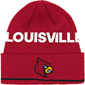 adidas Men's Louisville Cardinals Cardinal Red Cuffed Knit Hat
