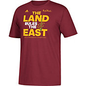 "adidas Youth 2017 Eastern Conference Champions Cleveland Cavaliers ""The Land Rules The East"" Burgundy T-Shirt"
