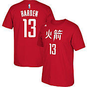 adidas Youth Houston Rockets James Harden #13 Chinese New Year Red T-Shirt