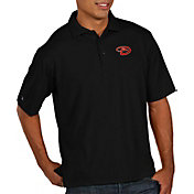 Antigua Men's Arizona Diamondbacks Black Pique Performance Polo