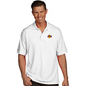 Antigua Men's Los Angeles Lakers Xtra-Lite White Pique Performance Polo