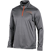 Champion Men's Syracuse Orange Grey Knit Mesh Quarter-Zip Shirt