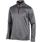 Champion Men's Iowa State Cyclones Grey Knit Mesh Quarter-Zip Shirt