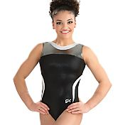 GK Elite Youth Black Tie Gymnastics Leotard