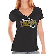 Touch by Alyssa Milano Women's Green Bay Packers Foil V-Neck T-Shirt