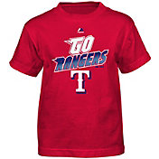 Majestic Boys' Texas Rangers Loud Speakers Red T-Shirt