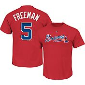 Majestic Men's Atlanta Braves Freddie Freeman #5 Red T-Shirt