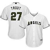Majestic Men's Replica Los Angeles Angels Mike Trout #27 2017 Memorial Day Cool Base Jersey