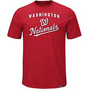 Majestic Men's Washington Nationals Stoked Red T-Shirt