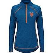 Majestic Women's New York Mets Cool Base Royal Half-Zip Pullover