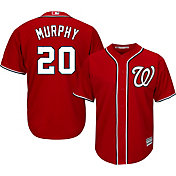 Majestic Youth Replica Washington Nationals Daniel Murphy #20 Cool Base Alternate Red Jersey