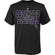 Majestic Youth Colorado Rockies Spark Black T-Shirt