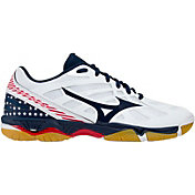 Mizuno Women's Wave Hurricane 3 Stars and Stripes Volleyball Shoes