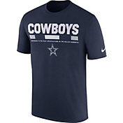 Nike Men's Dallas Cowboys Sideline 2017 Legend Staff Performance Navy T-Shirt