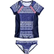 Roxy Girls' Pop Neon Short Sleeve Rash Guard Set