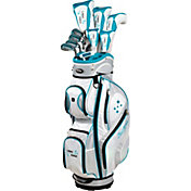 Tour Edge Women's Lady Edge 17-Piece Complete Set - (Graphite) - Teal