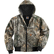 Carhartt Men's Quilted-Flannel Lined Camo Active Jacket