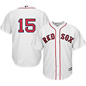 Majestic Men's Replica Boston Red Sox Dustin Pedroia #15 Cool Base Home White Jersey