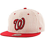'47 Men's Washington Nationals Woodside Captain Pinstripe Adjustable Hat