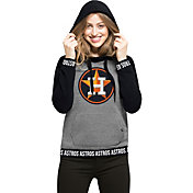 '47 Women's Houston Astros Grey Encore Pullover Hoodie