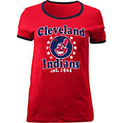 5th & Ocean Women's Cleveland Indians Red T-Shirt