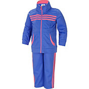 adidas Little Girls' Tricot Jacket and Pants Set