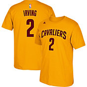 adidas Men's Cleveland Cavaliers Kyrie Irving #2 Gold T-Shirt