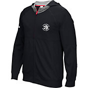 adidas Men's Toronto Raptors Pre-Game Black Full-Zip Hoodie