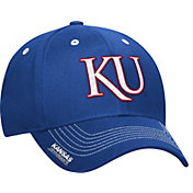 adidas Men's Kansas Jayhawks Blue Sideline Coaches Structured Flex-Fitted Hat