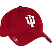 adidas Men's Indiana Hoosiers Crimson Sideline Coaches Adjustable Slouch Hat