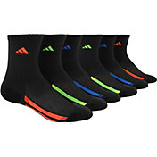 adidas Kids' Cushioned Stripe Crew Socks 6 Pack