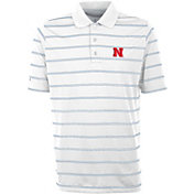 Antigua Men's Nebraska Cornhuskers Deluxe Performance White Polo