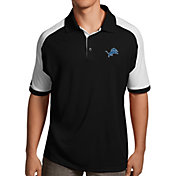 Antigua Men's Detroit Lions Century Black Polo