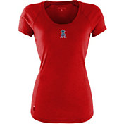 Antigua Women's Los Angeles Angels Patriotic Logo Red Pep T-Shirt