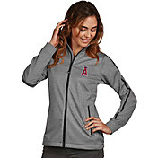 Antigua Women's Los Angeles Angels Grey Golf Jacket